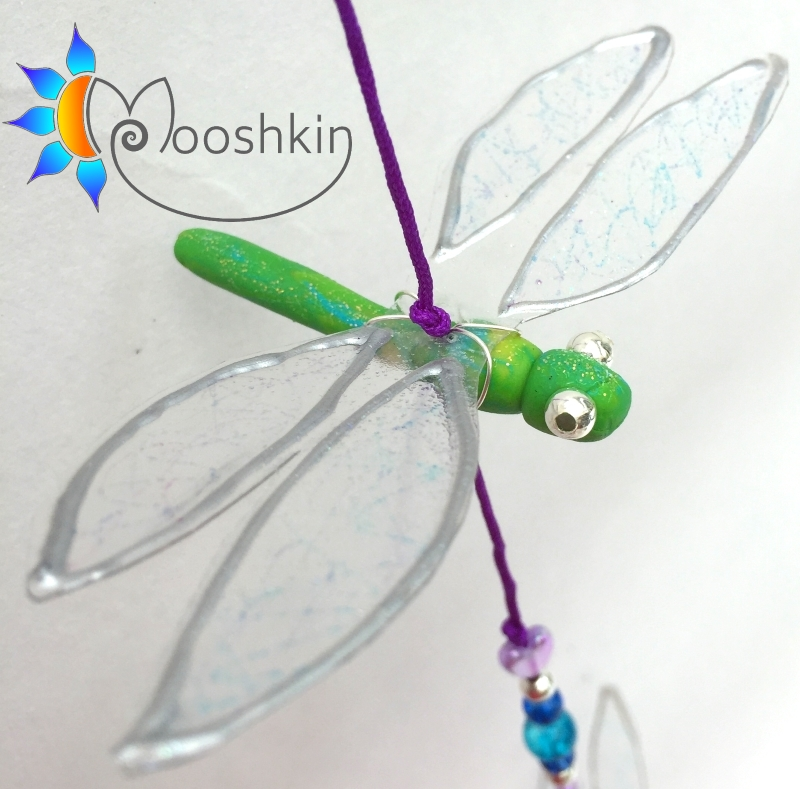 Small dragonfly dangler - string of 4 - Mooshkin